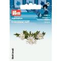 Prym Applikation Blume, Alpenveilchen, weiß