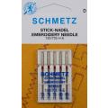 5 Schmetz Stick-Nadeln Stärke 75-90