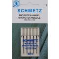 5 Schmetz Microtex-Nadeln Stärke 80