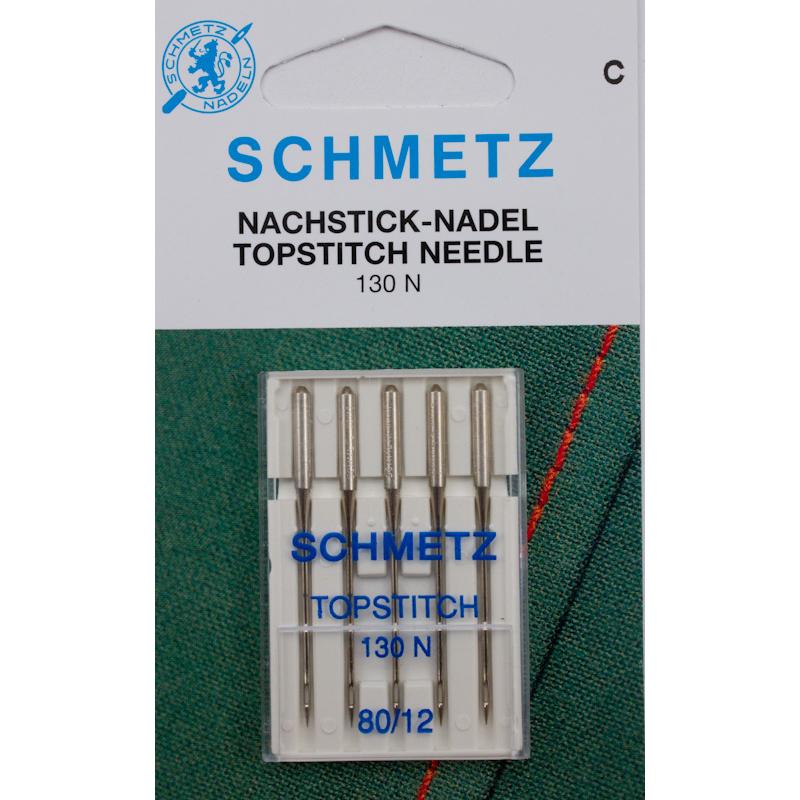 5 Schmetz Topstitch-Nadeln Stärke 80 für Nähmaschinen