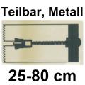 YKK Reißverschluss, teilbar, Metall