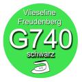 Gewebeeinlage G740 90cm breit - schwarz - fixierbar...